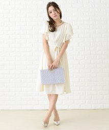 Lace Ladies/フリル袖巻きスカート風ワンピース・ドレス/502628396