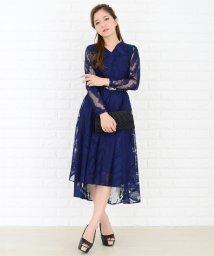 Lace Ladies/細ベルト付きフィッシュテール総レースワンピース・ドレス/502628468