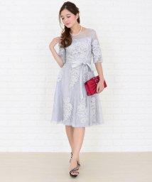 Lace Ladies/ウエストリボン付き3重レイヤード花柄シースルーワンピース・ドレス/502628472