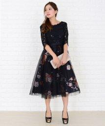 Lace Ladies/花柄チュール切り替えブライズメイドワンピース・ドレス/502628474