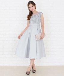 Lace Ladies/バックレースアップ花モチーフワンピース・ドレス/502628475