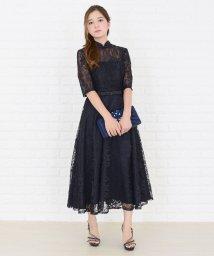 Lace Ladies/ウエストリボン付き花柄総レースワンピース・ドレス/502628478