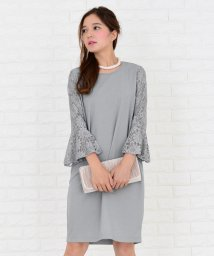 Lace Ladies/【選べる袖 4タイプ】膝丈 コクーンワンピース・ドレス/502628490