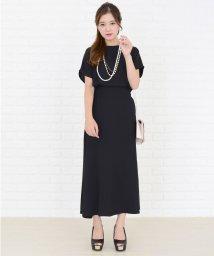 Lace Ladies/ウエストリボン付きキャップ袖スリット入りワンピース・ドレス/502628502