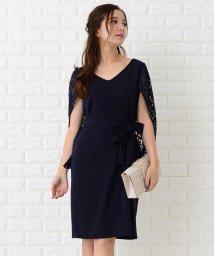 Lace Ladies/花柄レースケープ付膝丈ワンピース・ドレス/502628509