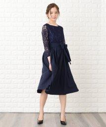 Lace Ladies/ウエストリボン付きレース切り替えフォーマルワンピース・ドレス/502628515
