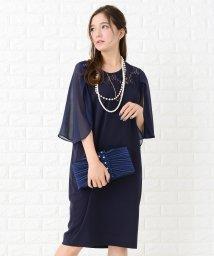 Lace Ladies/【選べる袖 2タイプ】袖スリット入りレースひざ丈ワンピース・ドレス/502628522