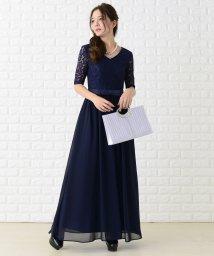 Lace Ladies/レース&シフォンAラインロングワンピース・ドレス/502628524