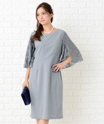 Lace Ladies/【選べる袖 3タイプ】膝丈 美ラインワンピース・ドレス/502628525