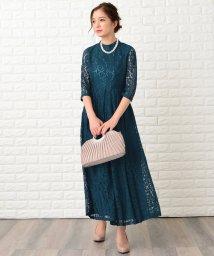 Lace Ladies/花柄総レースハイネックマキシ丈ワンピース・ドレス/502628531