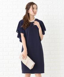 Lace Ladies/【選べる2タイプ】ラッフルスリーブ 膝丈 ワンピース・ドレス/502628532