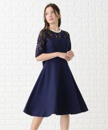 Lace Ladies/バックリボン付き花柄レース × ビスチェワンピース・ドレス/502628534