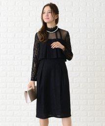 Lace Ladies/プリーツケープ付きハイウエストデザインワンピース・ドレス/502628539