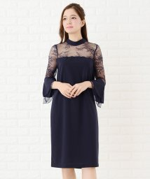 Lace Ladies/レースチュール袖ロングフレアワンピース・ドレス/502628551