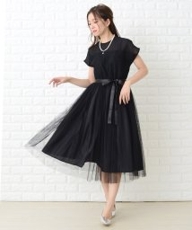 Lace Ladies/【選べる2タイプ】ウエストリボン付きオーガンジーレースフレアワンピース・ドレス/502628563
