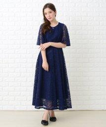 Lace Ladies/レースケープ風バックスリット入りワンピース・ドレス/502628569