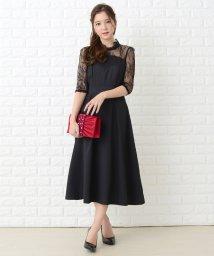 Lace Ladies/チュールレースロング丈ワンピース・ドレス/502628573