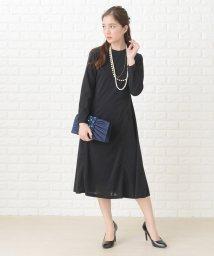 Lace Ladies/シンプル長袖フォーマルミモレ丈ワンピース・ドレス/502628575