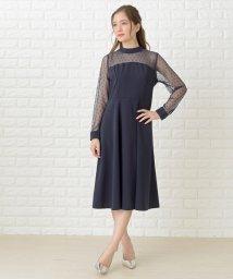 Lace Ladies/ドットレース胸元切替ワンピース・ドレス/502628577
