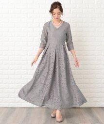 Lace Ladies/七分袖総レースフォーマルロングワンピース・ドレス/502628580