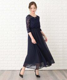 Lace Ladies/レース切り替え七分袖フォーマルワンピース・ドレス/502628583