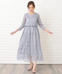 Lace Ladies/ウエストゴムリーフ柄総レースフォーマルワンピース・ドレス/502628584