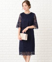 Lace Ladies/セットアップ風五分袖レースフォーマル膝丈 ワンピース・ドレス/502628590