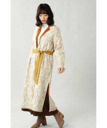 ROSE BUD/Wool Jacquard Coat/502637206