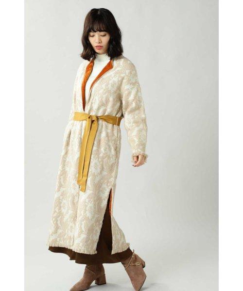 ROSE BUD(ローズバッド)/Wool Jacquard Coat/6019220029