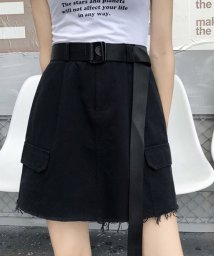miniministore/ベルト付きスカート レディース ハイウエスト インナーパンツ スカート ミニ丈スカート キュロット/502637858