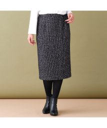 PISANO/ウール混ツィードタイトスカート[セットアップ対応]/502639519