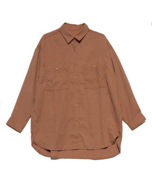 STYLEBLOCK(スタイルブロック)/スタイルブロック STYLEBLOCK ポケットBIGシャツ (ブラウン)/ST4819EW27808