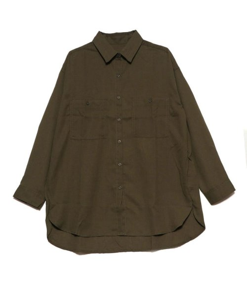 STYLEBLOCK(スタイルブロック)/スタイルブロック STYLEBLOCK ポケットBIGシャツ (カーキ)/ST4819EW27809