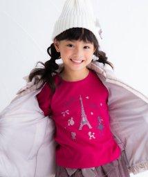BeBe/パリモチーフプリントTシャツ/502574663