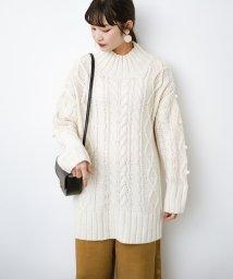 haco!/ざっくり編みは女の子がかわいく見えるってよ(噂)パプコーンローゲージニット/502621092