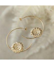LOUISE DAMAS/LD HEN 2 Henriette アンリエット Fine hoop earrings フラワー×フープ ピアス ゴールド レディース/502626251