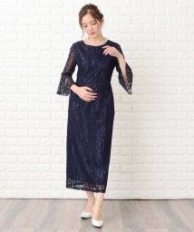Lace Ladies/【選べる2タイプ】五分袖or七分袖 総レースフォーマルロングワンピース・ドレス/502628512