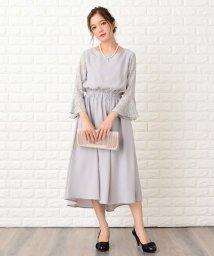 Lace Ladies/【選べる2タイプ】レース 五分袖or七分袖 フィッシュテールフォーマルワンピース・ドレス/502628514