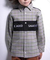 WASK/バスト切り替えチェックシャツ(140cm~160cm)/502632890