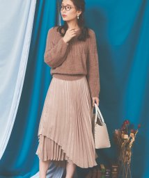 Noela/【美人百花12月号掲載】シャイニープリーツスカート /502638326