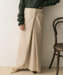 URBAN RESEARCH/ELIN Flannel trim wrap skirt/502645427