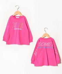 X-girl Stages/レインボーロゴ長袖Tシャツ/502618699