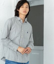 coen/ビエラ起毛ソリッドネルシャツ/502634100