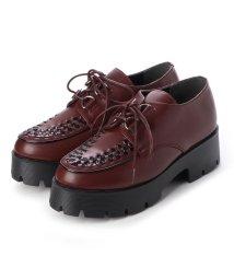 Mafmof/マフモフ Mafmof Mafmof(マフモフ) おじ靴オックスフォードのラバーソールシューズ (ワインPU・ブラック)/502646113
