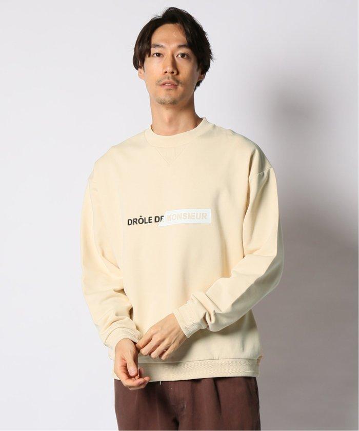 DROLE DE MONSIEUR / ドロールドムッシュ Branded Sweatshirt