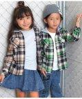 ANAP KIDS/フード付チェックシャツ/502530273