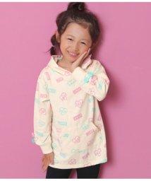 ANAP KIDS/リボン付総柄フーディ-チュニ/502532614