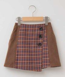 a.v.v(KID'S)/[160]チェックキリカエ台形スカート[WEB限定サイズ]/502538641