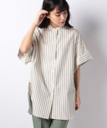 LUI'S WOMEN/【Lui's】レディースバンドカラーオーバーシャツ/502624471