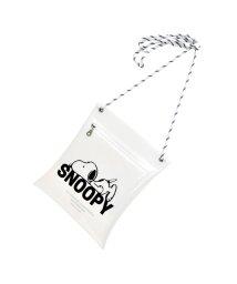 RUNNER/スヌーピー SNOOPY クリア ミニショルダー WHITE BLACK CLEAR PVC /502647233